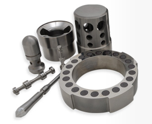 Precision Face-Forms, Tungsten Carbide, Tool Steels, Ceramic Wear Parts, M.W.D Components